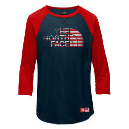 The North Face Girl's Ic Tri Blend 3/4 T-shirt