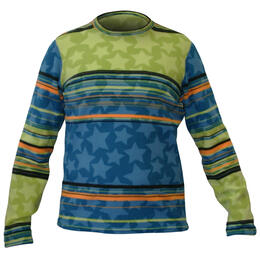 Hot Chillys Youth Pepper Fleece Print Baselayer Crewneck
