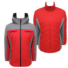 Avalanche Women's Red and Grey 3 In 1 System Jacket