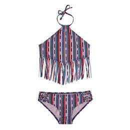 Smoothies By Gossip Girl's Desert Stripe Kid's Tankini Set