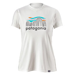 Patagonia Women's Capilene Daily Fitz Roy Boulders Graphic T Shirt