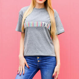 Jadelynn Brooke Women's Stripe State Texas T-Shirt