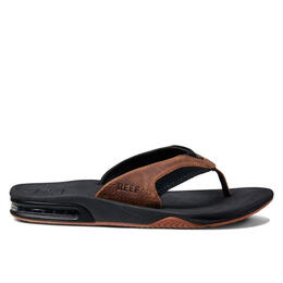 Reef Men's Leather Fanning Flip Flops