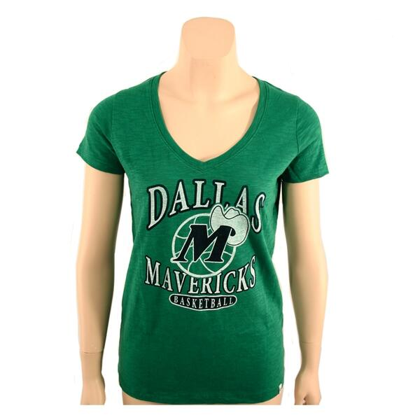 47 Brand Women's Dallas Mavericks V-neck Tee Shirt