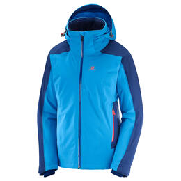 Salomon Women's Brilliant Ski Jacket, Hawaiian Surf/Medieval Blue