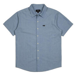 Brixton Men's Charter Oxford Short Sleeve Woven Shirt