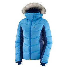Salomon Women's Icetown Ski Jacket, Surf/Medieval Blue
