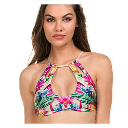 Isabella Rose Women's Hot Tropics High Neck Bikini Top
