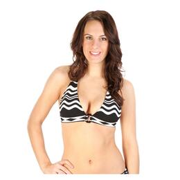 La Blanca Women's In The Groove Banded Halter Bikini Top