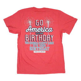 Jadelynn Brooke Women's Go America Birthday Short Sleeve Shirt