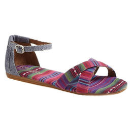 Toms Women's Correa Chambray Stripe Casual Sandals