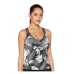 Jag Sport Women's Leafy Tropical Over The Shoulder Swim Top