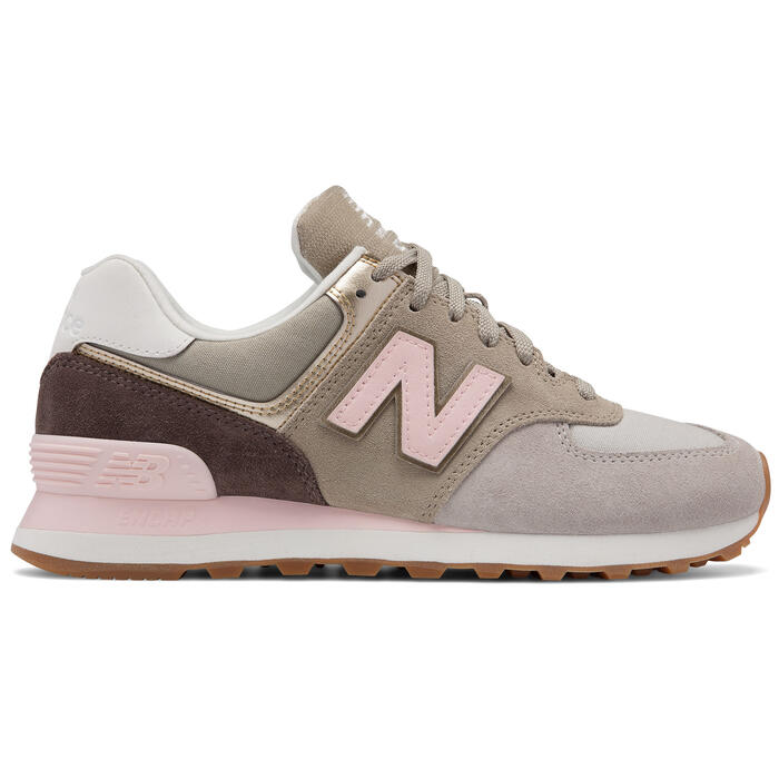 New Balance Women's 574 Metallic Patch Runn