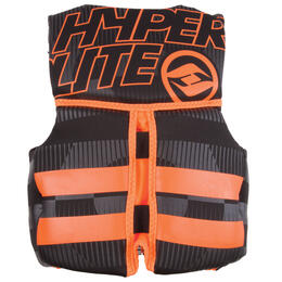 Hyperlite Boy's Indy Uscga Life Vest Black/Orange