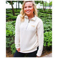 Jadelynn Brooke Women's Quarter Zip Boyfrie