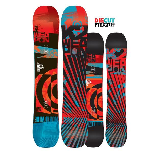 K2 Men's World Wide Weapon All Mountain Snowboard '14