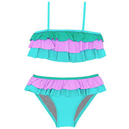 Beach Lingo Toddler Girl's Sunsets Ruffle Bra Set