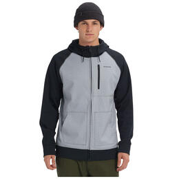Burton Men's Crown Bonded Full-Zip Hoodie Grey