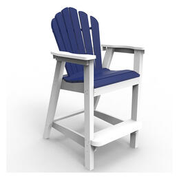Seaside Casual Adirondack Classic 2 Tone Bar Chair