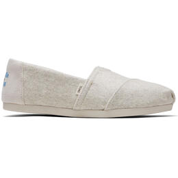 Toms Women's Classics Natural Felt Slip On Shoes