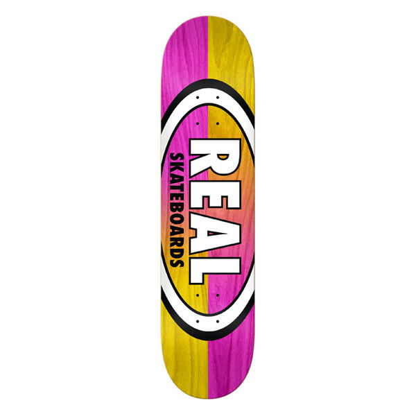 Real Double Dipped Oval 8.25 Skateboard Deck