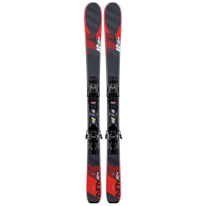 K2 Boy's Indy Skis with Marker 4.5 FDT Bind