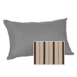 Casual Cushion Corp. 22x15 Lumbar Throw Pillow - Dapper Grey Stripe