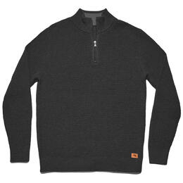 The Normal Brand Men's Waffle Knit Quarter Zip Sweater