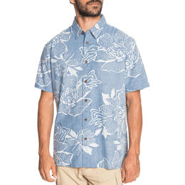 Quiksilver Men's Waterman Hatch Rose Short Sleeve Shirt