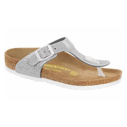 Birkenstock Girl's Gizeh Magic Galaxy Silver Birko-Flor Sandals