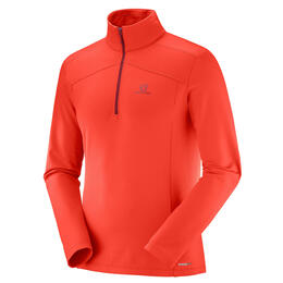 Salomon Men's Discovery Light Half Zip Top, Fiery Red