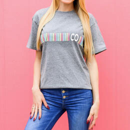 Jadelynn Brooke Women's Stripe State Colorado T-Shirt
