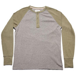 The Normal Brand Men's Long Sleeve Retro Puremeso Henley Henley
