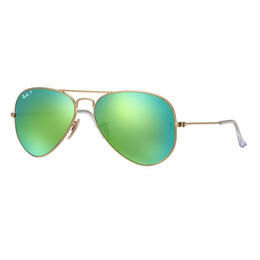 Ray-Ban Aviator Classic Sunglasses With Green Polarized Lenses