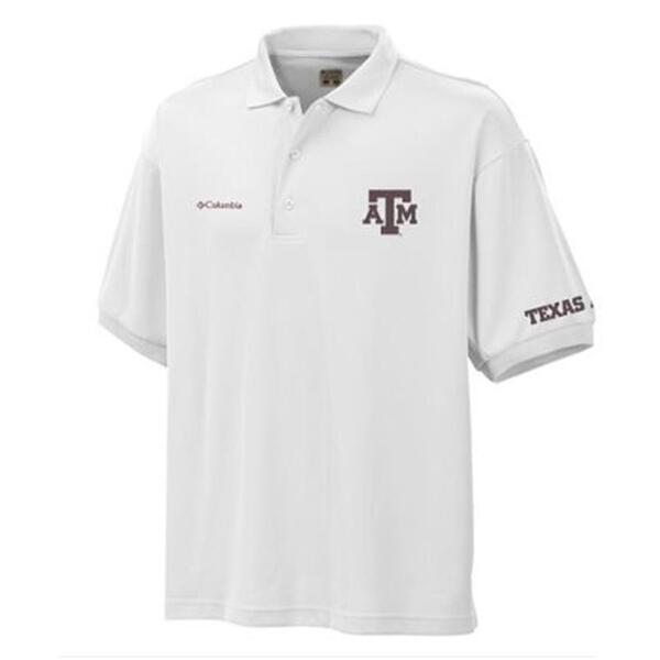 Columbia Sportswear Men's Collegiate Perfect A&M Short Sleve Polo Shirt