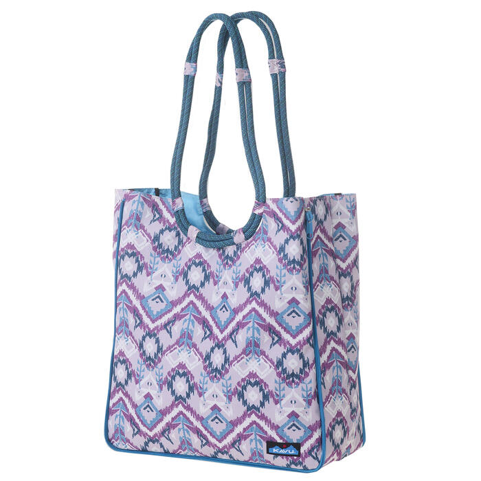 Kavu Women's Purple Ikat Market Tote Bag