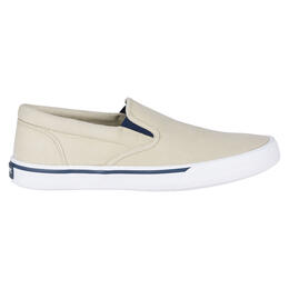 036cd950b4e Sperry Men s Striper II Slip On Casual Shoes Cement