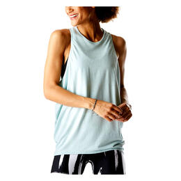 Lucy Women's Keep Calm Tank Washed Blue