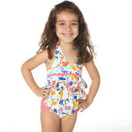 InGear Fashions Toddler Girl's Ruffle Tankini Set