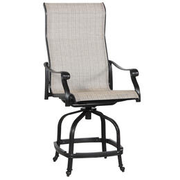 Alfresco Home Lisbon Sling Gathering Swivel Chair