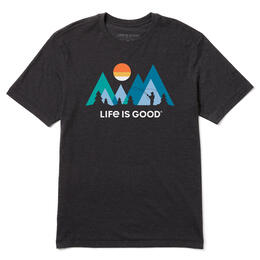 Life Is Good Men's Sunset Fly Fishing T-Shirt
