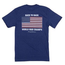 Rowdy Gentleman Men's Back To Back World War Champs Short Sleeve T Shirt