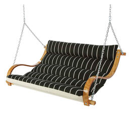 Hatteras Classic Black Stripe Deluxe Cushioned Double Swing