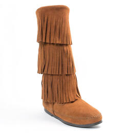 Minnetonka Women's 3-Layer Fringe Boots
