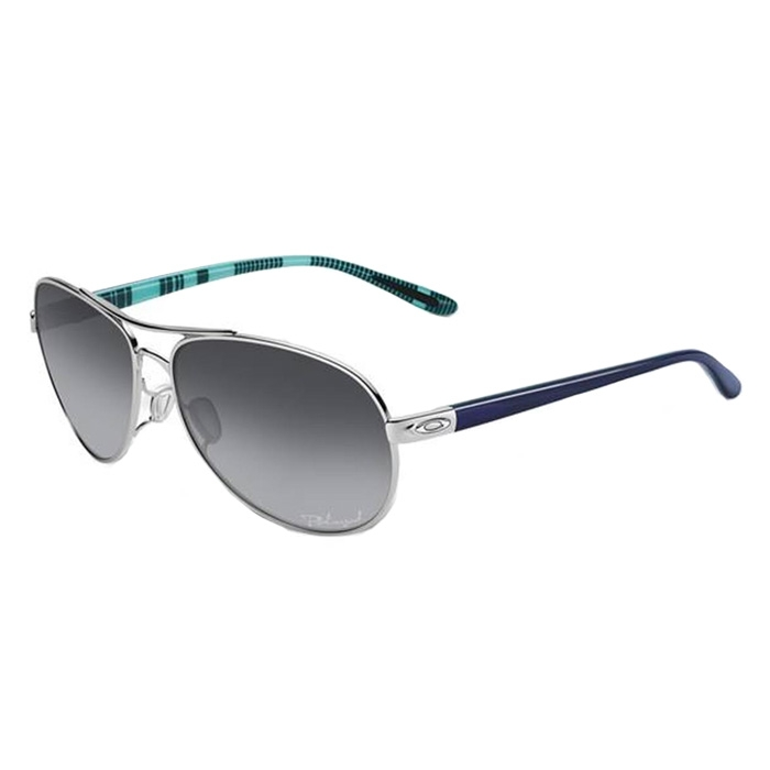 d9fbf30948 UPC 700285863276. Oakley Feedback Sunglasses - Polarized - Women s Polished  Chrome Grey Gradient P
