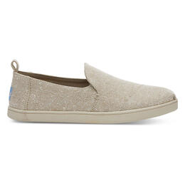 Toms Women's Deconstructed Alpargata Casual Shoes Natural Metallic