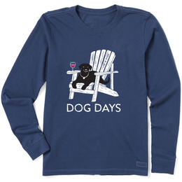 Life Is Good Women's Dog Days Crusher Long Sleeve Shirt