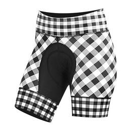 Shebeest Women's Petunia Gingham Cycling Shorts