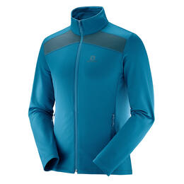 Salomon Men's Discovery Light Full Zip Top, Moroccan Blue/Reflecting