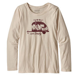 Patagonia Girl's Long-Sleeved Live Simply Trailer Graphic Organic T Shirt